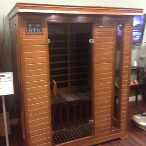 Classic three person sauna far infrared on sale $2799, was $3999 Strathcona County Edmonton Area image 2