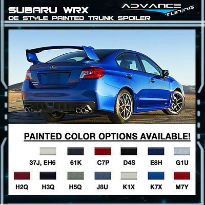 Fits 15 17 Subaru WRX STI OE Painted Trunk Spoiler All OEM Colored