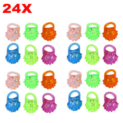 24pcs Blinkende Ringe Party Accessoires LED Ring Fingerlicht leuchtende Ringe ()