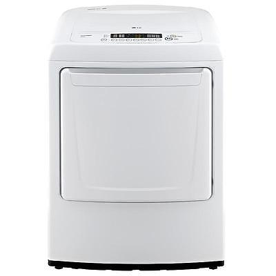 "مجفف الغسيل جديد LG DLE1001W 27"" White Front Load Electric Dryer NIB NEW Daily Deal!"