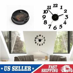 Home Office Decor Creative DIY 3D Digital Wall Clock Self Adhesive Sticker UK