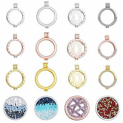 Fashion Silver/Gold Plated Locket Holder Fit For My Coin Necklace 33mm Coin Gift (Coin Necklace Holder)