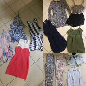 100 items Size 6 - 8 Playsuits Dresses Shirts