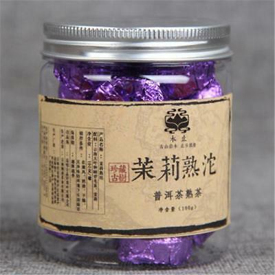 100g Yunnan Puerh Tea Canned Jasmine Puer Small Tuocha Pu Er Ripe Tea Green Food