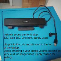 insignia sound bar for laptop