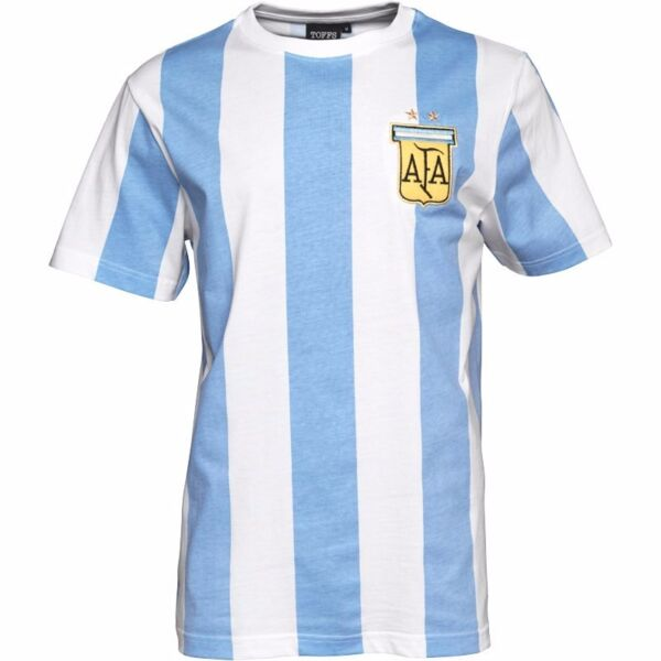 Toffs Mens Argentina Number 10 T-Shirt - Blue & White (Size M) (Brand New With Tags)