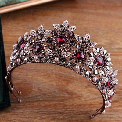 Tiara Cristal Boda Estrás Novia Boda Corona Reina Concursos de Belleza Diadema