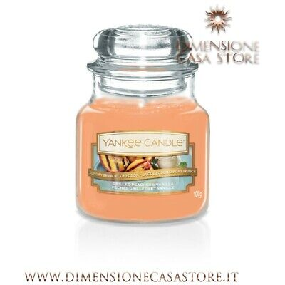 YANKEE CANDLE Giara Piccola Classica Candela Profumata Grilled Peaches & Vanilla