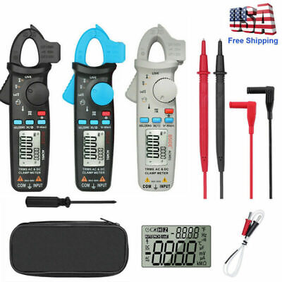 Automotive Clamp Meter True Rms 6000 Counts Acdc Current 1ma Tester With Case