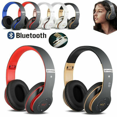 Wireless Bluetooth Kids Over-Ear Headphones Earphones for iPad/Tablet/Phones UK