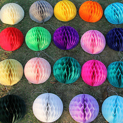 5Pcs Paper Lantern Honeycomb Balls Tissue Pom Party Wedding Hanging Decoration