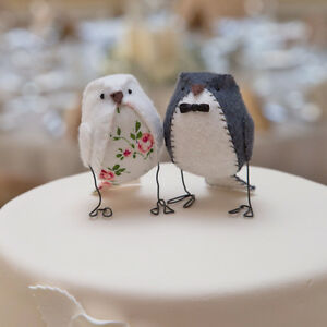 Local Custom Made Love bird Wedding Cake Toppers