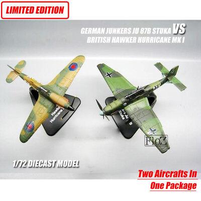 GERMAN JUNKERS JU87B STUKA VS BRITISH HAWKER HURRICANE MK I 1/72 model aircraft