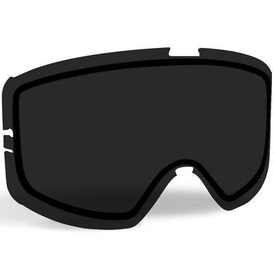 Kingpin Replacement - 509 Kingpin Snowmobile Goggle Replacement Lens - Smoke Tint - 509-KINLEN-17-SM