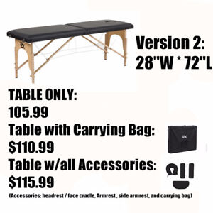 "Folding Portable Massage/Reiki/Tatoo/Esthetics TableBed W23""to30"