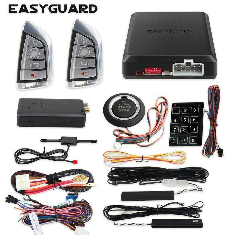 EASYGUARD smartphone app 4G 3G 2G controller auto start keyless entry security