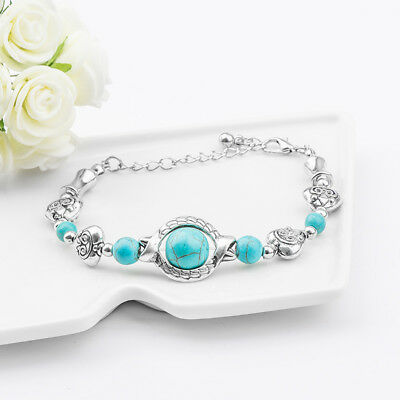 Wholesale Cheap Fashion Vintage Turquoise Adjustable Bracelet Chain Jewelry - Punk Wholesale
