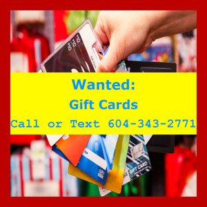 Sell GIFT CARD STORE CREDIT giftcards for CASH