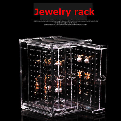 Fashion Jewelry Earrings Acrylic Rack Display Stand Storage Box Holder Organizer