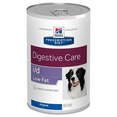 12 X Cans Hills Prescription Diet Canine ID Dry Dog Food Low Fat Digestive Care