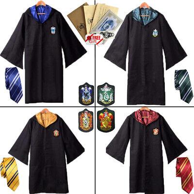 Harry Potter Gryffindor Cape Cloak Tie Halloween Cosplay Party Costume COS Xmas