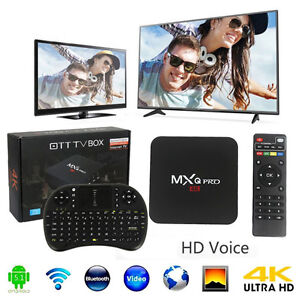Android TV box, MXQ Pro 4K Fully Loaded  + KEYBOARD Included