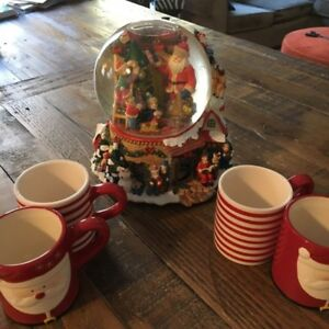 Costco Globes and Christmas Mugs