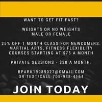 Martial arts fit fast!