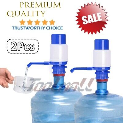 2 Pack Hand Pump Dispenser w/ Pipes for 5-6 Gal Gallon Bottled Plastic Water Jug - Wholesale Bottled Water
