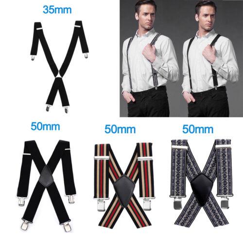 Hosenträger Y-Form für Frauen Herren Schmal Clips extra stark Anzug Hochzeit
