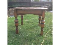 vintage utility dining table & 4 chairs
