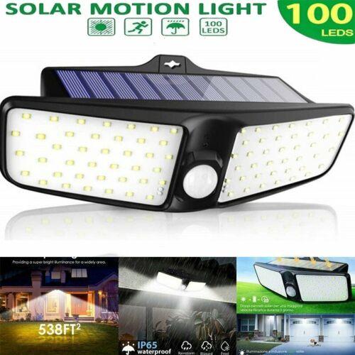 100led solar power light outdoor pir motion