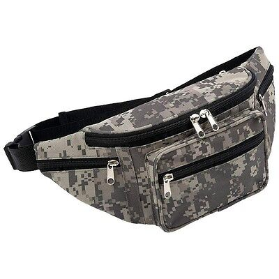 Digital Camo FANNY PACK Water Repellent Camouflage Hunting Waist Belt Bag Wallet