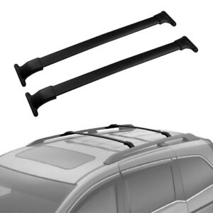 Black Roof Rack Crossbars for Honda Odyssey 2011 - 2017