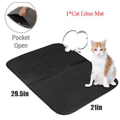 Cat Litter Mat Trapper Supplies Super Pet Large Size 2 Layer Honeycomb holes Mat