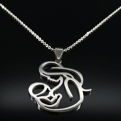 Hot Gifts Stainless Steel Mother Child Love Pendant Necklace Lovely Mother's (Gold Mother Child Jewelry)