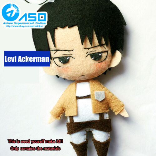 Anime Attack on Titan Levi Ackerman handmade Toy Keychain Bag Hanging Plush Doll