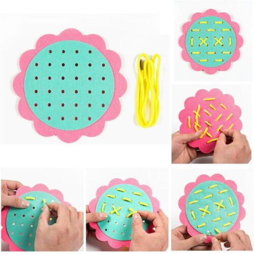 Children Threading Game Teaching Toy Tie-up Lacing Toys Educational DIY Craft HS