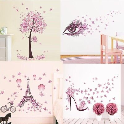 Removable Butterfly Decals Vinyl Art Mural Wall Sticker Kids Girl Room Decor - Art Kids