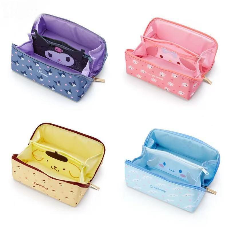 Cinnamoroll Kuromi My Melody Pompompurin Cosmetic Bag Pencil Case Storage Bags