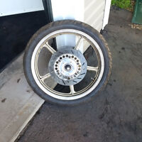 90 / 90 - 19 Front Tire and Rim for sale