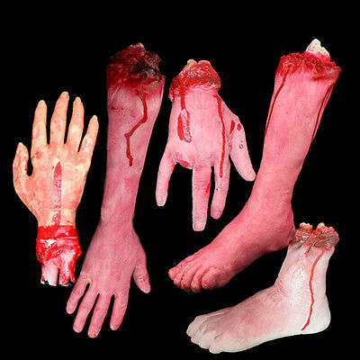 Halloween Scary Fake Body Parts Severed Arm Hand Party Tricky Spoof Foot Props - Halloween Fake Body Parts