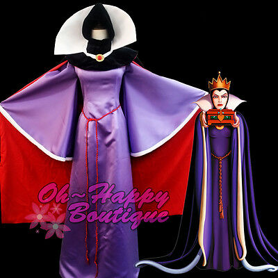 Snow White Evil Queen Luxury Dress Adult Women Halloween purple costume cosplay](Luxury Halloween Costume)