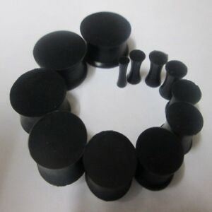 3MM-30MM-FLEXIBLE-EAR-TUNNEL-HIDER-PLUG-STRETCHER-EXPANDER-BLACK-SILICONE