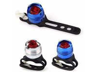 (861) NEW, FRONT or REAR BIKE/BICYCLE LED FLASH LIGHT ALUMINIUM BODY WATERPROOF QUICK RELEASE