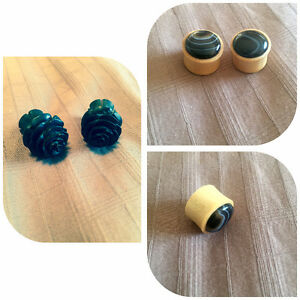 Two pairs of 9/16 wooden plugs for sale