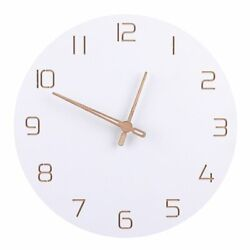 Large Wooden Wall Clock Nordic Simple Design Silent Watch Bedroom Home Decors