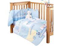 Baby cot bedding bundle ( Clare de lune)