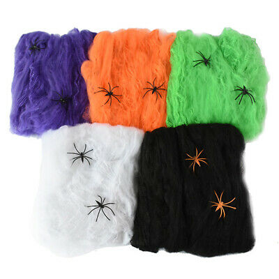 Halloween Scary Party Stretchy Spider Web Spider Haunted - Halloween Spider Web
