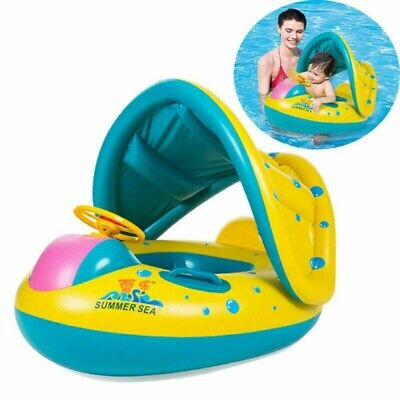 Baby Float Swimming Ring Kid Inflatable Swim Tube Trainer Pool Water Fun Toy US ()